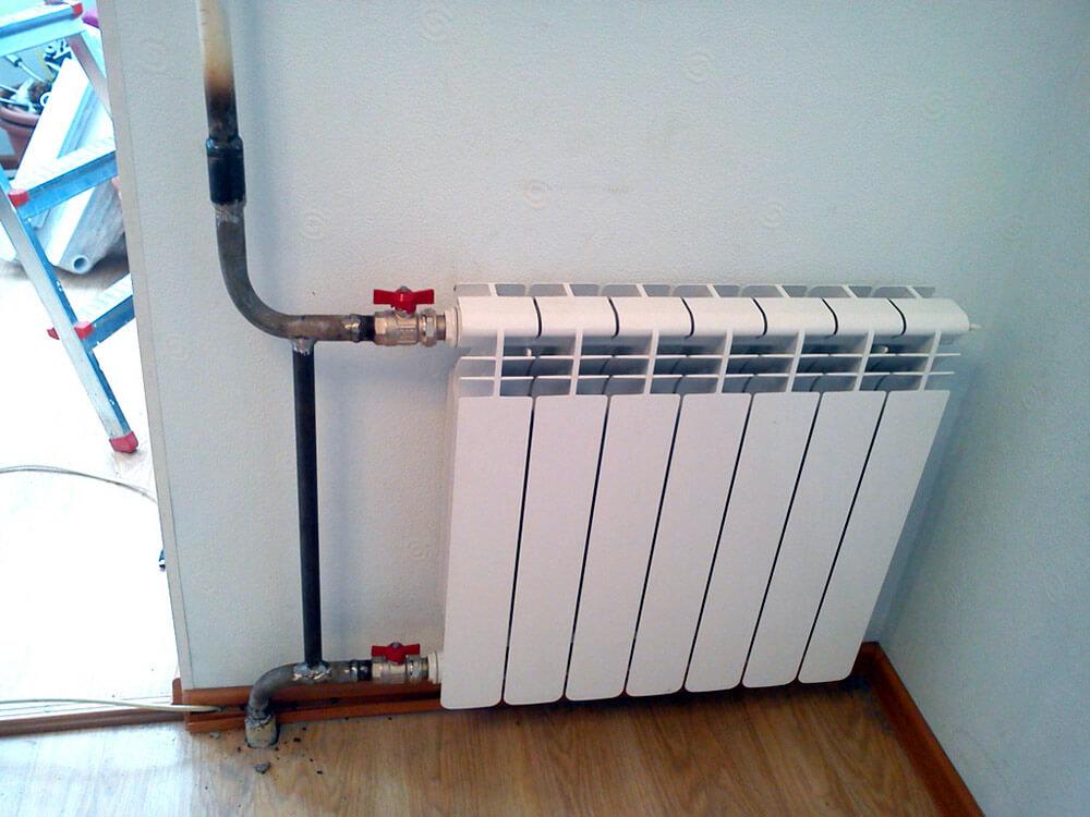 Установка радиатора утепления.